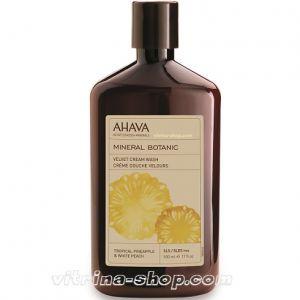 Ahava Бархатистое Крем-мыло Тропический ананас и белый персик Mineral Botanic, 500 мл.